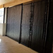 9' Back Powder Coated With Privacy Slat