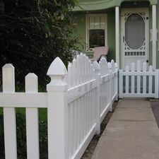 3' White Arched Picket
