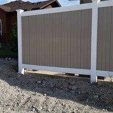 6' White Posts and Adobe Insert